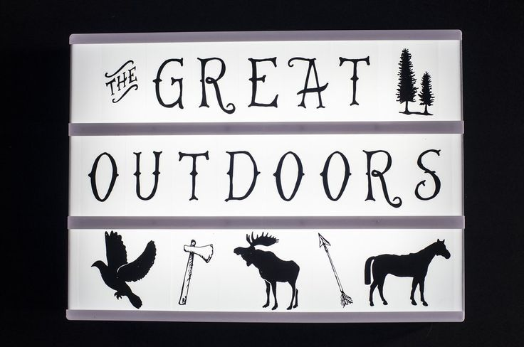 Unleash the inner beast! Featuring a new unique font and symbols representing the great outdoors.