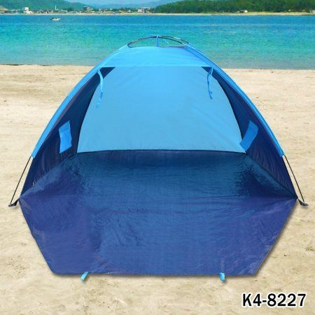 Strong Camel POP UP Potable Beach Shelter Tent Camping SUN Shade Outdoor Canopy, Blue