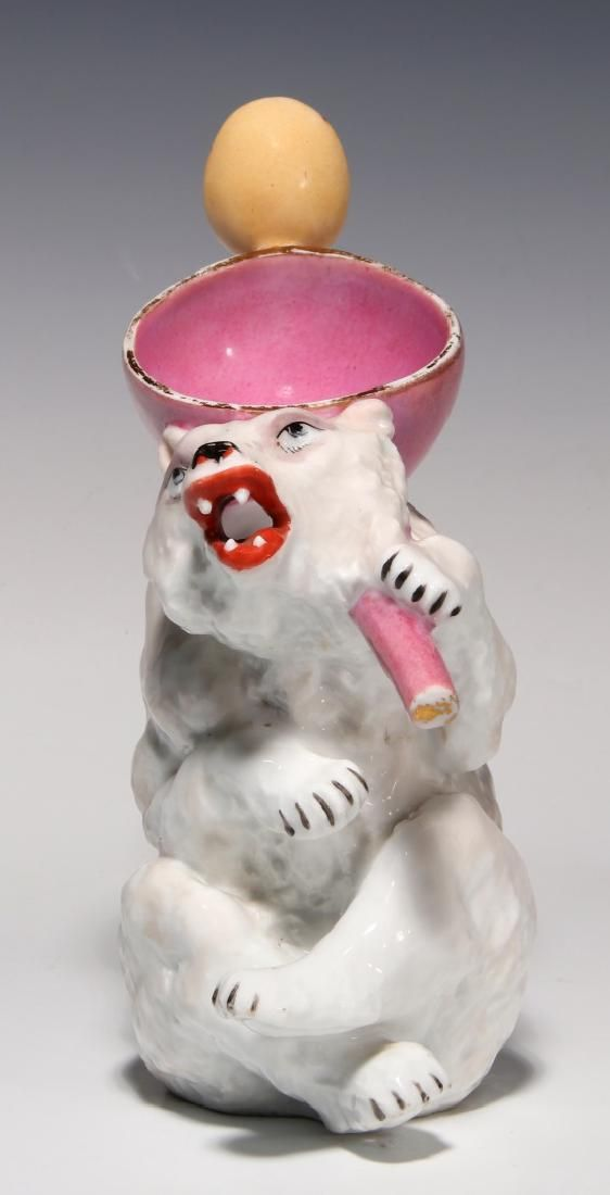 Lot: AN UNUSUAL FIGURAL BEAR PORCELAIN PITCHER CIRCA 1900, Lot Number: 0025, Starting Bid: $35, Auctioneer: Soulis Auctions, Auction: An Eclectic Little Auction, Date: April 30th, 2017 MDT