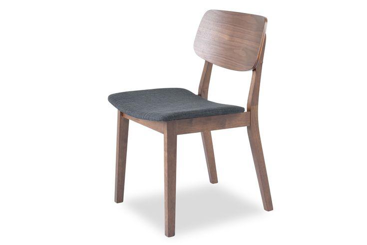 Baldwin Mid-Century Modern Dining Chair Walnut, Set of 2 Edloe Finch Furniture Co. EF-Z3-DC010W