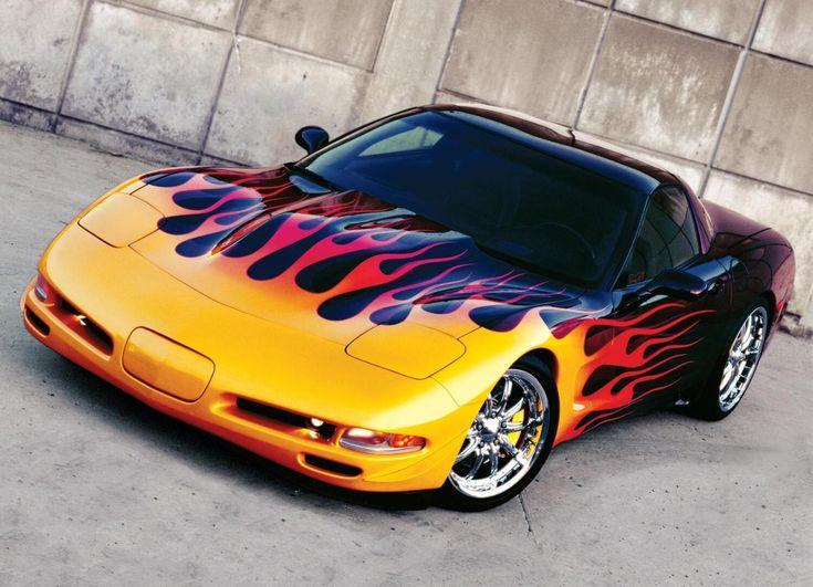 1999 Corvette with one awesome paint job!!