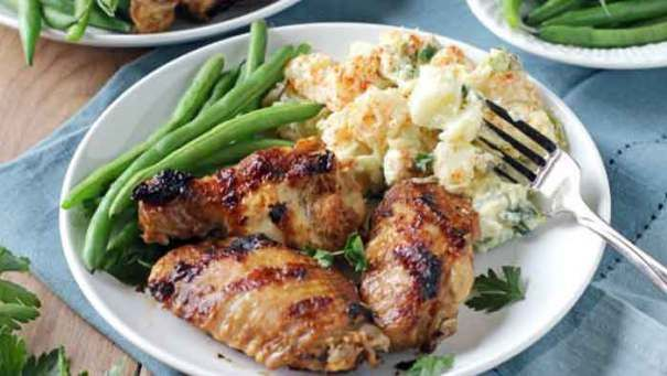 Grilled Chicken Wing Recipe With Hot And Spicy Chicken Wing Dip - This Grilled Chicken Wing Recipe is first grilled and then bathed in a chicken wing dip that is hot and juicy, sweet and spicy. Everything you've always wanted in your chicken wings recipes.