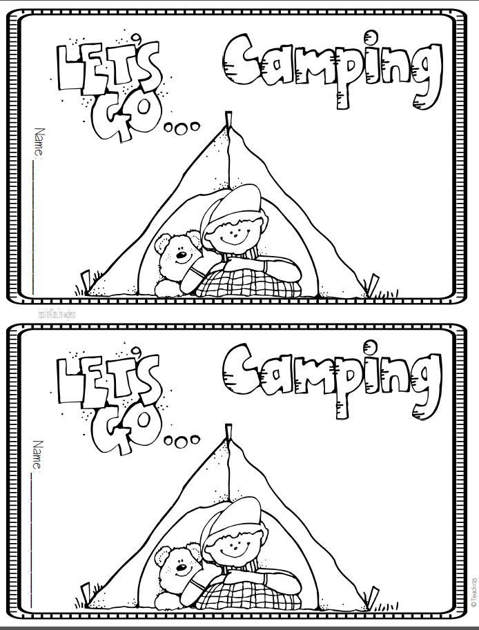 73 best camping coloring pages images on pinterest day for Camping coloring pages for preschoolers