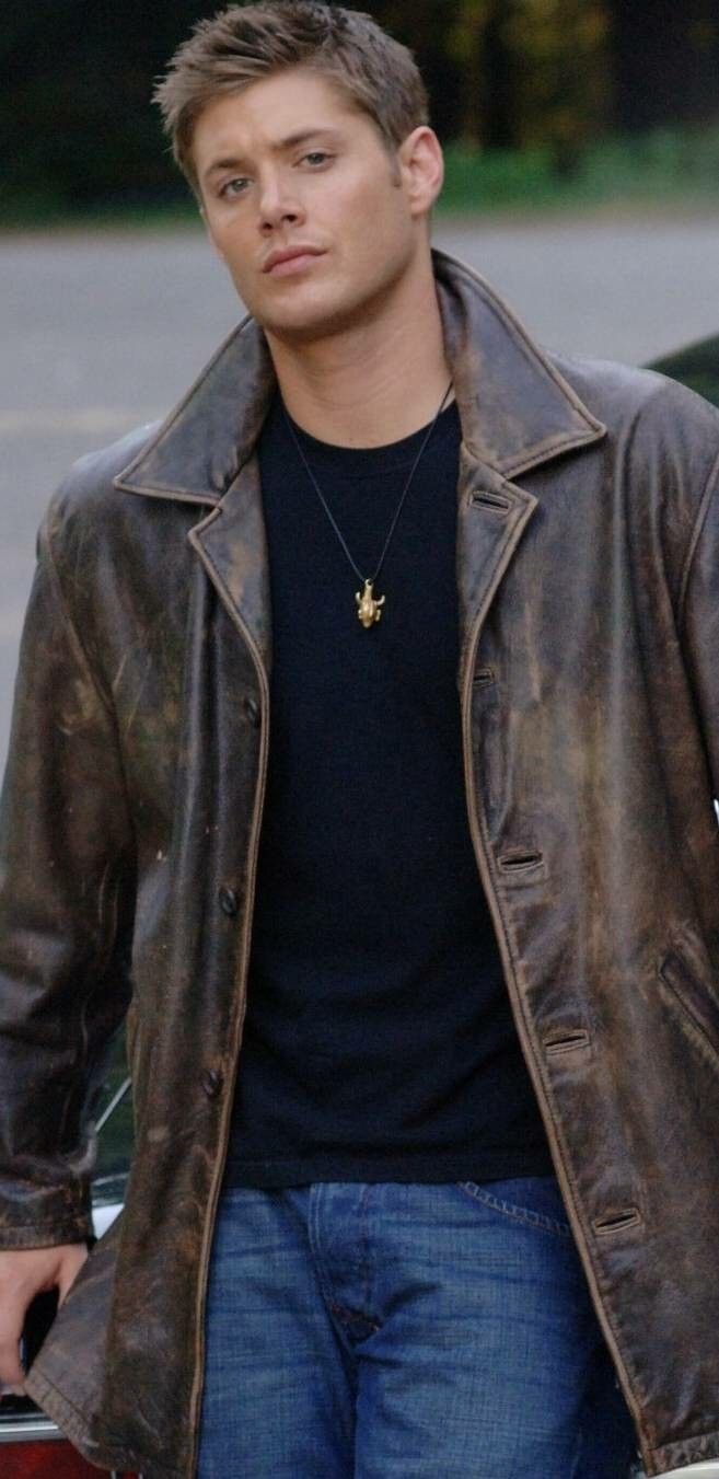 Pin By Brittany Bullock On Spn Love Distressed Leather Jacket Leather Jacket Jackets Men Fashion [ 1351 x 657 Pixel ]