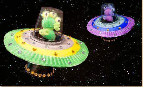Papr Plate Alien Spaceship Craft