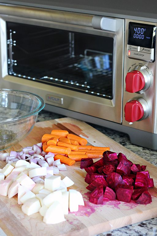 Roasted Root Vegetables in the @WolfGourmet Countertop Oven from Laura Fuentes