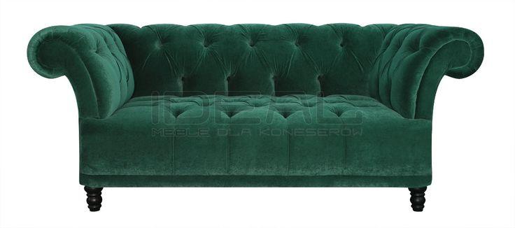 Przepiękna sofa chesterfield, radość domowników, chluba gospodarza, zazdrość gości. Pikowane siedzisko i pikowane oparcie eksluzywny produkt dla koneserów.  Sofy - Sofa Chesterfield Dorset - IdealMeble  sofa chesterfield, zielona sofa,butelkowa zieleń,  styl angielski, green,  emerald