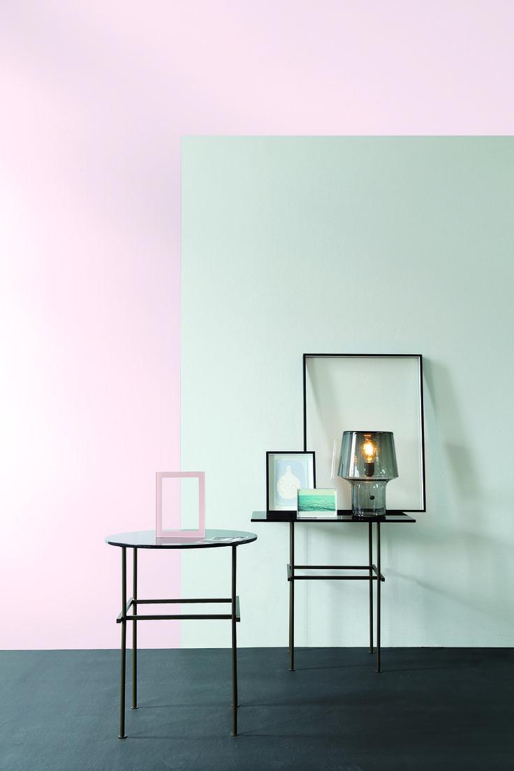 Plascon Tiny Pink R1-A2-3 and Plascon Light Grey Aluminium 44