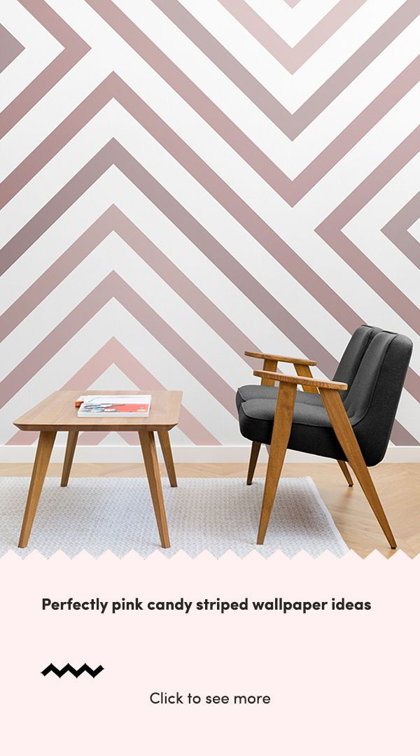 Perfectly pink candy striped wallpaper ideas with