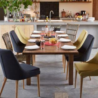 Chaise en hévéa et frêne vert esprit scandinave Vert - Abby - Chaises - Tables et chaises - Salon et salle à manger - Décoration d'intérieur - Alinéa