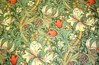 """William Morris wallpaper design from the Arts and Crafts Movement. Called """"Golden Lily Minor"""""""