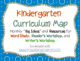 Mrs. Wills Kindergarten: Kindergarten Curriculum Map ELA -Freebie