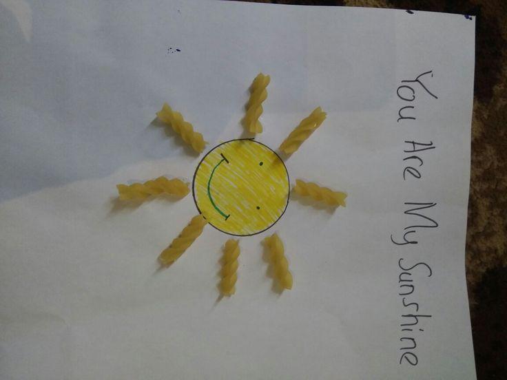 Membuat matahari mudah untuk anak  Alat dan bahan : 1. Makaroni 2. Kertas putih  3. Spidol  4. Cup ☕ untuk membuat lingkar. Atau apapun yang bisa membuat lingkaran ⭕