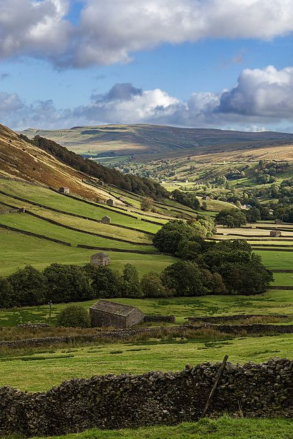 Swaledale Countryside - Yorkshire, England ~ Driving through the green fields of England. Spectacular!
