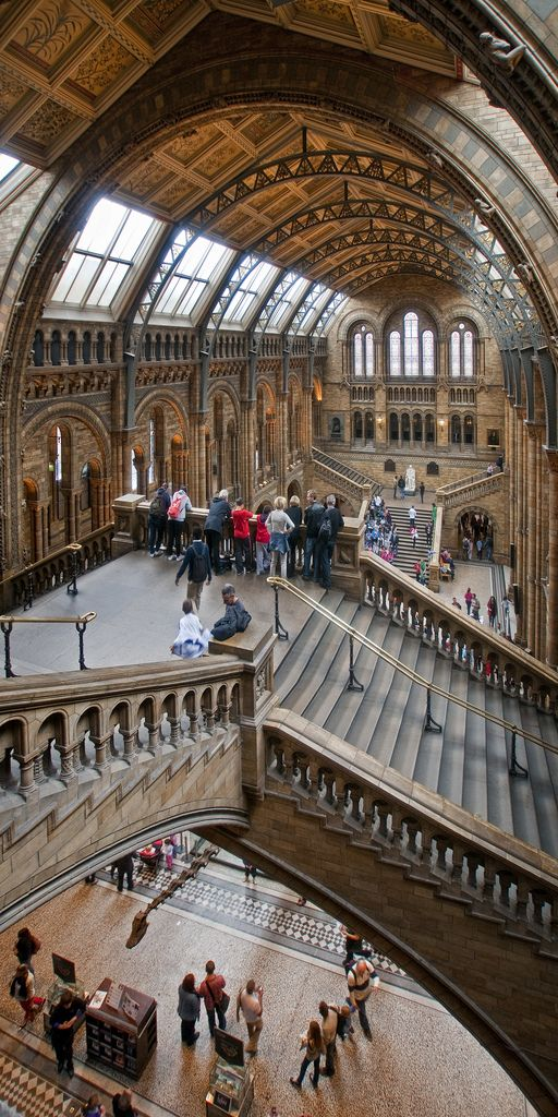 Hintze Hall at the Natural History Museum in London