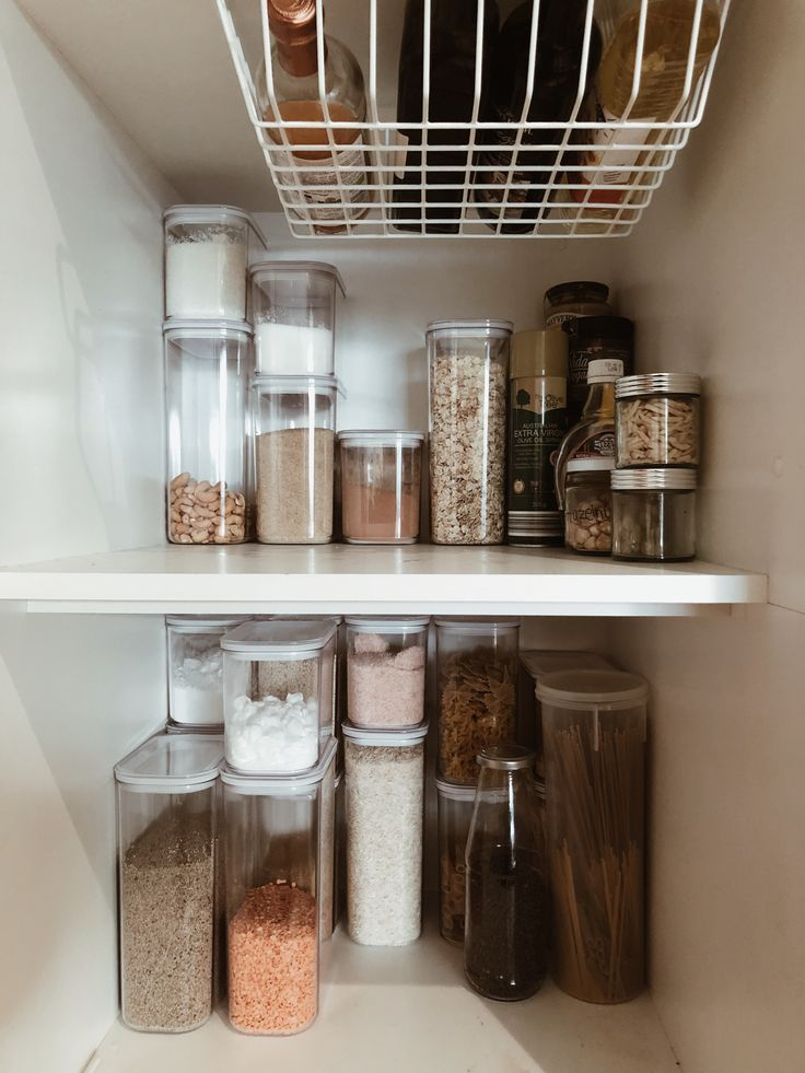 Organised Pantry Using Target Containers And Kmart Basket