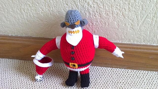 Robot Santa crochet pattern