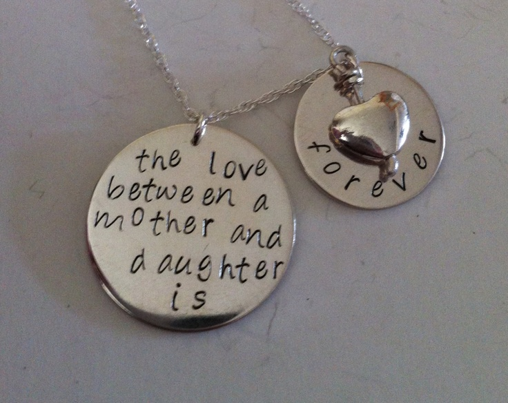 Sterling silver mother and daughter necklace Various quotes etc available and various prices depending on size This item £50  Www.facebook.com/pandorastylejewellery  #jewellery #jewelry #necklace #silver
