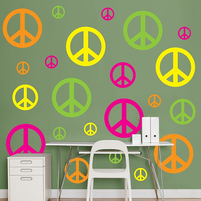 Hot Pink  Yellow  Neon Green   Orange Peace Signs   Peace Signs   Home. 9 best Wood Door Hangers  Peace Signs images on Pinterest