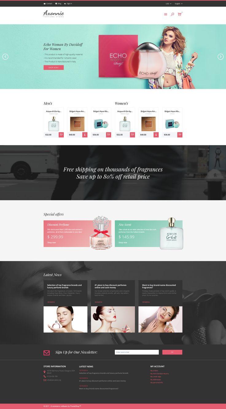 239 best prestashop themes images on pinterest templates axonnie perfume store prestashop theme pronofoot35fo Gallery