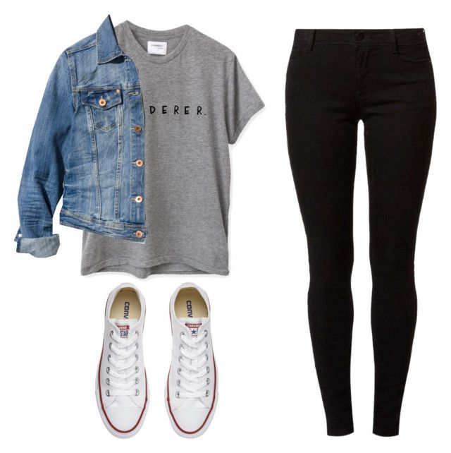 """"" by sophiaaajeannn ❤ liked on Polyvore featuring H&M, Dorothy Perkins and Converse"