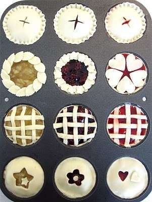 I wonder if my family would be okay with me making these instead of the normal pies that I make. :)