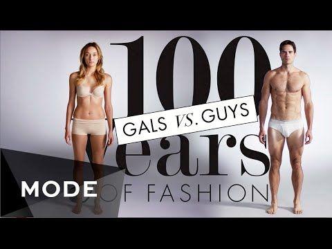 100 Years of Fashion: Gals vs. Guys ★ Mode.com - YouTube