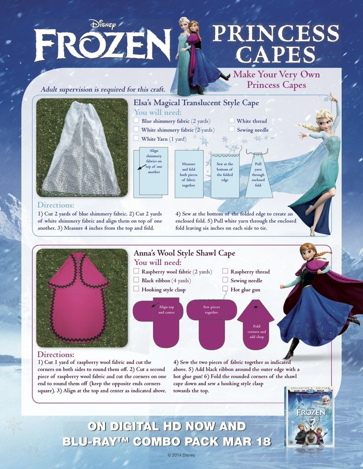 Make these #Frozen Princess Capes for the Anna or Elsa fan in YOUR house!
