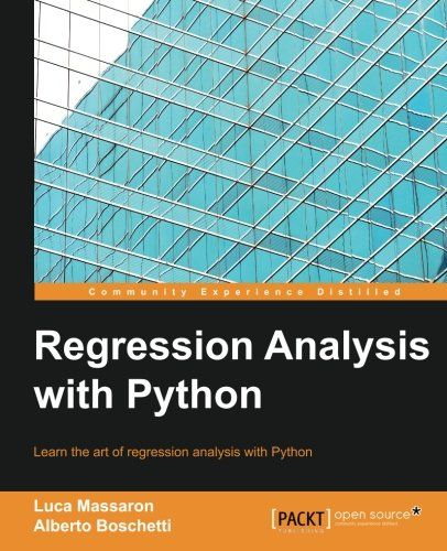 Regression Analysis with Python Pdf Download e-Book