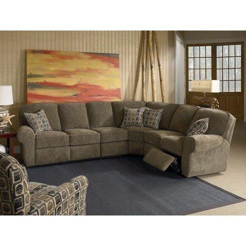 Lane Megan Powerized 4 Piece Reclining Sectional Sofa