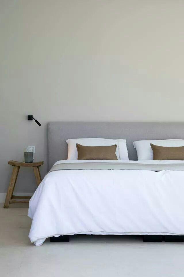 Minimal earthy #bedroom
