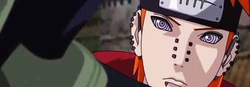 Pain looks like he just found all the answers to life's question in Kakashi's eyes. :))