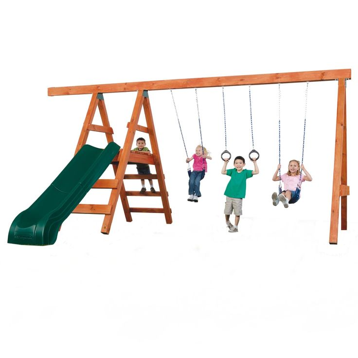 Swing-n-Slide Play Set Pioneer Deluxe DIY Swing Set & Reviews | Wayfair