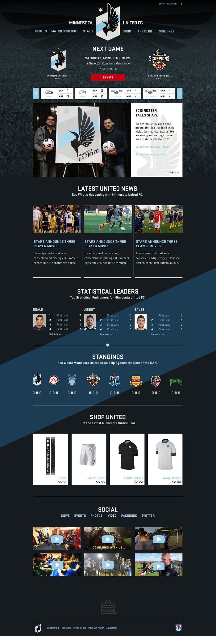 MN United FC: Web Design  Ben Olsem