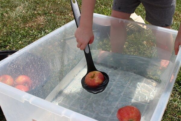 Apple Bobbing Activity for Preschoolers                                                                                                                                                                                 More