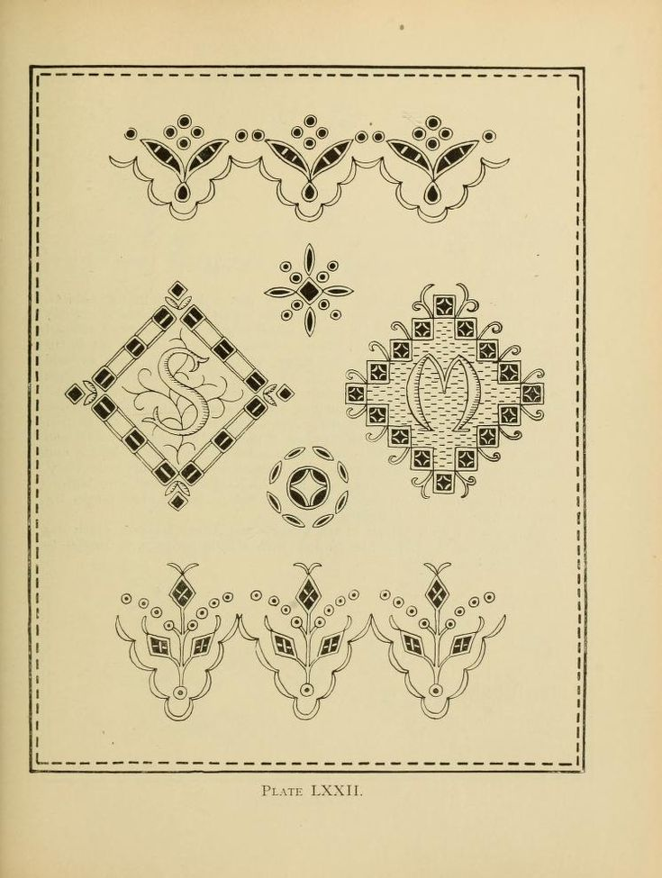 """Beautiful borders from a vintage embroidery pattern book: The author writes, """"[...] all broderie anglaise patterns which are well executed need a good deal of skill and patience, and a student not possessing either of these qualifications should leave this branch of embroidery severely alone.""""... Well, she sure was passionate"""