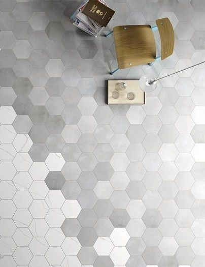 HEXAGONAL WHITE STONE TILES WALL - Google Search