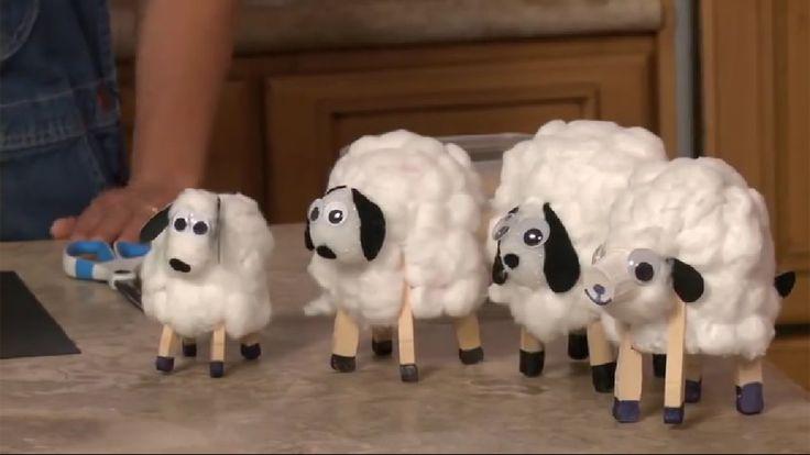 Поделки из пластиковых стаканчиков:  объемная овечка из одноразового стаканчика