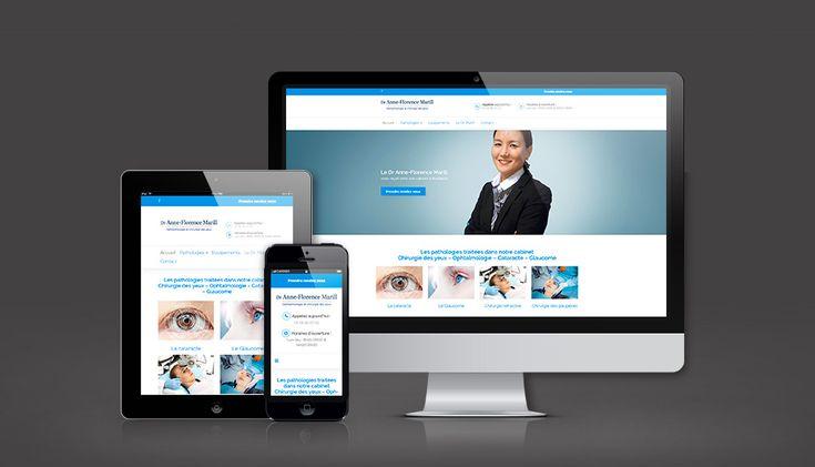 WEB - Site Internet Responsive #opthalmologue #responsive #yeux #oeil #paupieres #chirurgie #vue #medical #cabinet #bordeaux #siteweb #lunettes #iris #communication #design #graphisme #docteur #sante #logo #cartevisite #siteweb #identitevisuelle #professionnel