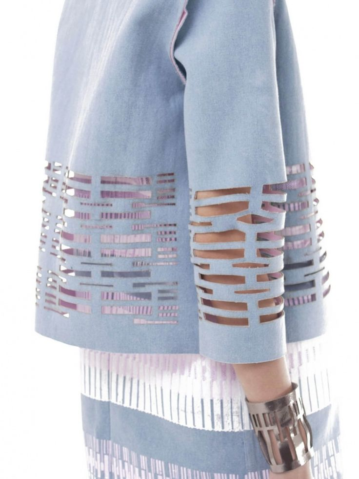 Denim Laser Cut Jacket | NOT JUST A LABEL