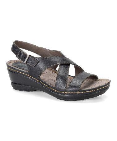 Look what I found on #zulily! Black Arizona Leather Sandal #zulilyfinds