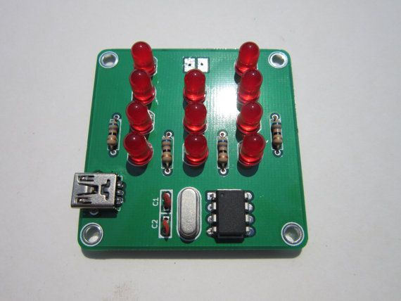 Simple Binary Clock Kit by AppleMountain on Etsy, $13.00