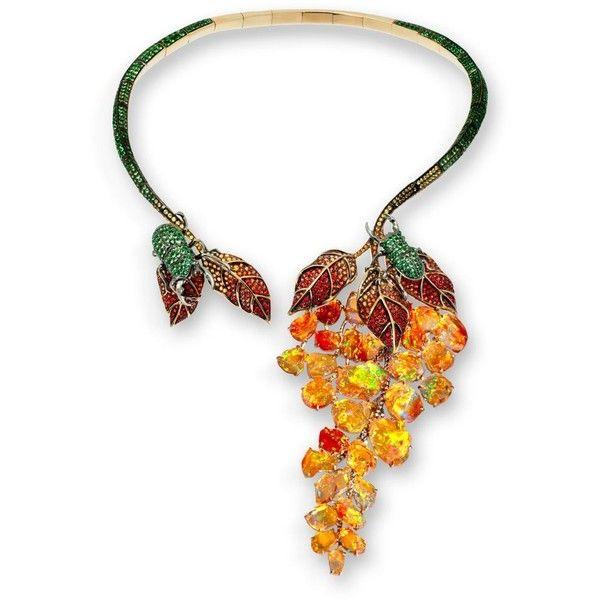вспоминая опалы ноября ❤ liked on Polyvore featuring necklaces