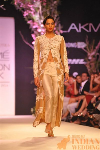 Checkered Jacket| Manish Malhotra Sweet Spring Collection {Lakme Fashion Week 2014} - Gallery - TheBigFatIndianWedding.com