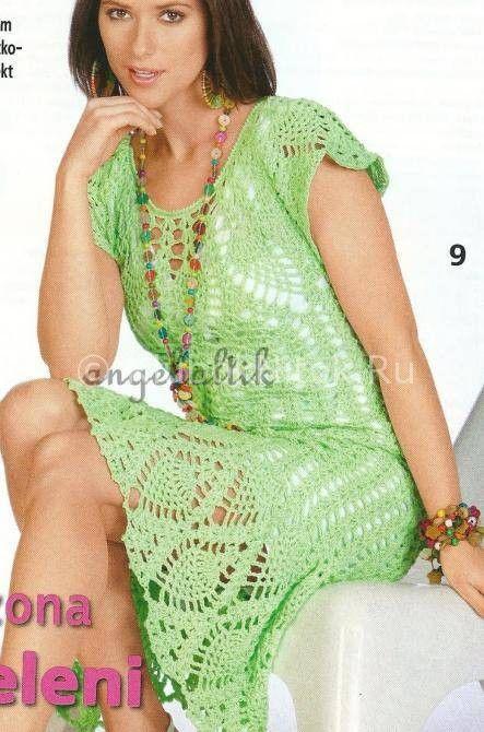 Зеленые ананасы | Вязание для женщин | Вязание спицами и крючком. Схемы вязания.
