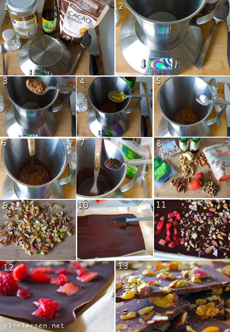 Steg for steg basic hjemmelaget sjokolade
