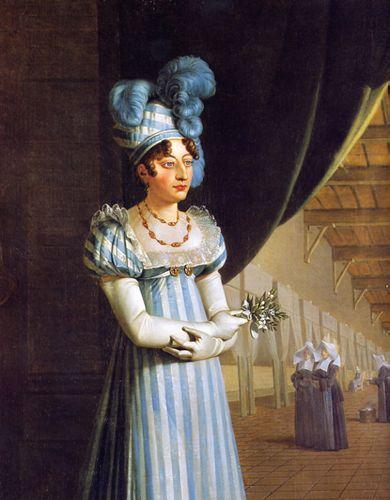 """Guillaume - Joseph Roques """"Visite de la Duchesse d'Angoulème aux Hôpitaux de Toulouse"""" 2 Septembre 1815  -La Duchesse d'Angoulème, nièce de Louis XVIII et belle-fille du futur Charles X, était aussi Madame Royale, fille de Louis XVI et de Marie-Antoinette, seule survivante de la Prison du Temple"""