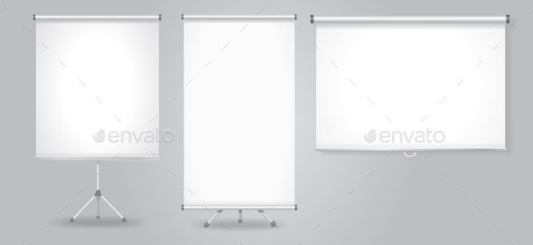 Blank Promotion Stand and Roll Up Banners Set