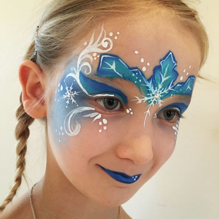 elsa die eiskönigin schminken lippen augen stirn #fasching #carnival