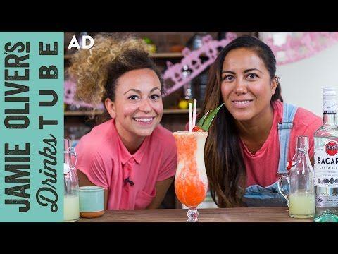 Miami Vice   Frozen Piña Colada & Strawberry Daiquiri Cocktail   May & Shev - YouTube